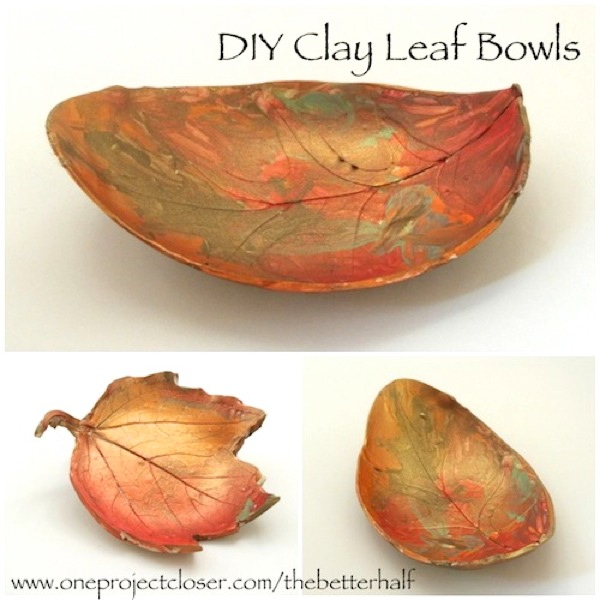 DIY Clay Leaf Bowls from One Project Closer