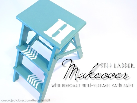 Step Ladder Makeover - One Project Closer