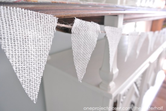 Burlap bunting from One Project Closer
