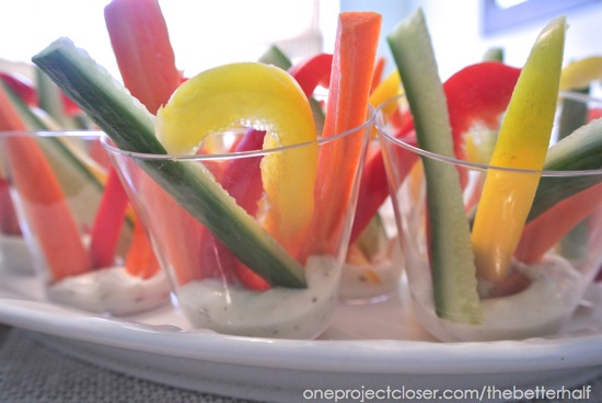 Individual Veggie Cups - One Project Closer
