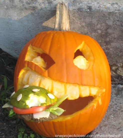 Burger Pumpkin from One Project Closer
