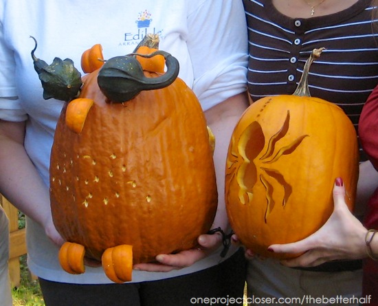 Owl and Spider Pumpkin from One Project Closer