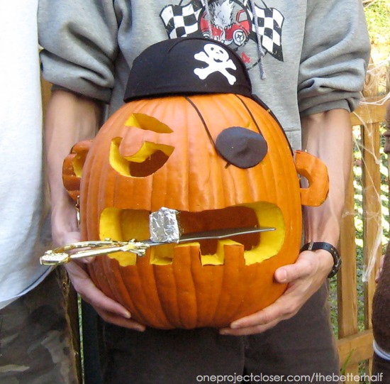 Pirate Pumpkin from One Project Closer
