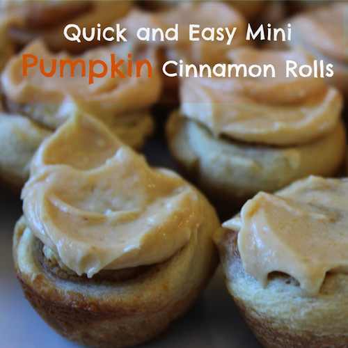 Mini Pumpkin Cinnamon Rolls Updated