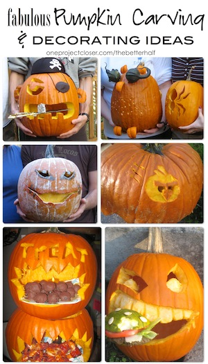 PumpkinCarving Ideas from One Project Closer