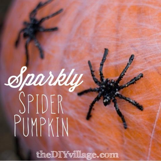 Sparkly-Spider-Pumpkin