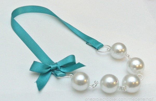 DIY Pearl Necklaces from One Project Closer