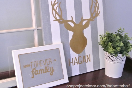 DIY Deer Head Art with One Project Closer