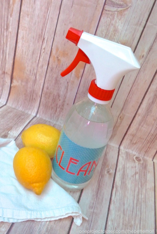 Homemade All Purpose Cleaner with Essential Oils from One Project Closer