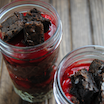 Chocolate Cherry Brownie Parfaits