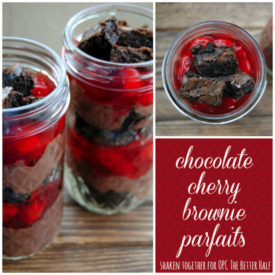 Chocolate Cherry Brownie Parfaits - One Project Closer
