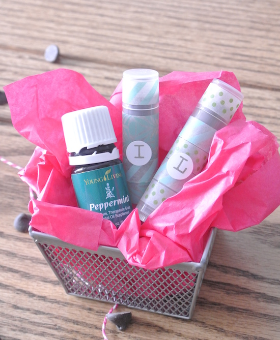 Chocolate Peppermint DIY lip balm from One Project Closer