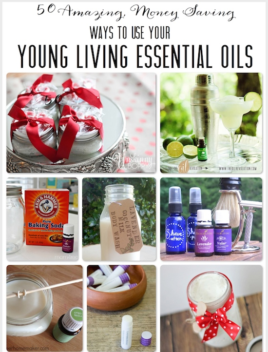 50 Ways to use Young Living Essential Oils from One Project Closer
