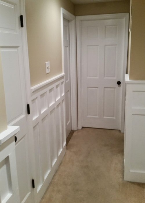 How To Install Board And Batten Wainscoting White Painted