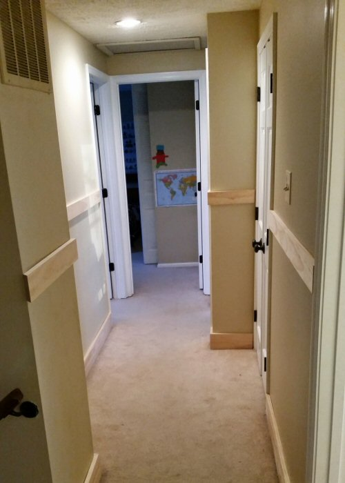 Board and Batten Baseboard Installation