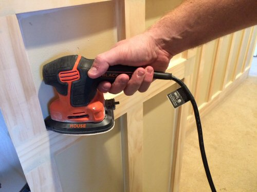 Sanding board and batten with the black and decker mouse sander