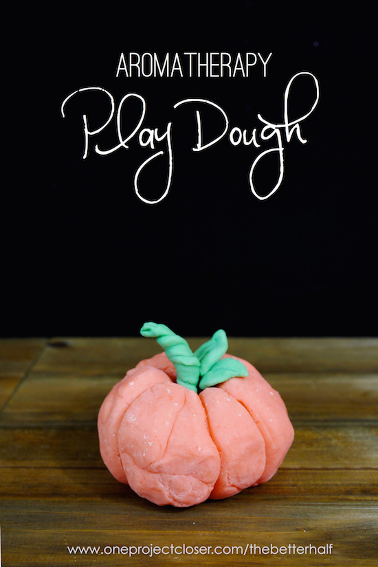 Homemade Aromatherapy Playdough from One Project Closer