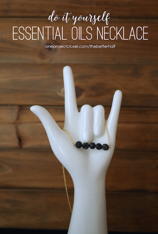 DIY Essential Oil Diffuser Necklace from One Project Closer