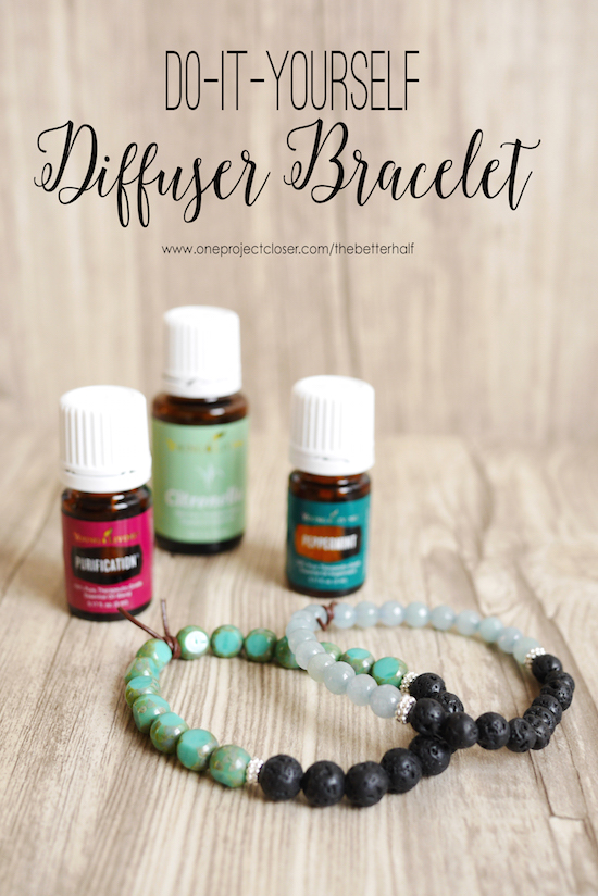 DIY diffuser bracelet from One Project Closer