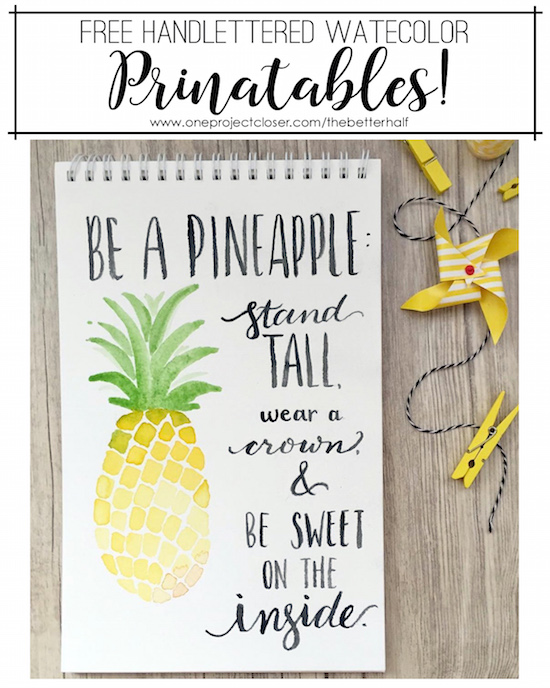Free Watercolor Printable from One Project Closer