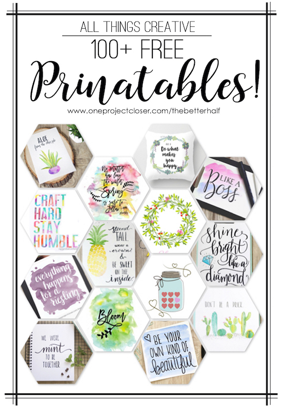 All Things Creative: 100+ free printables from One Poject Closer