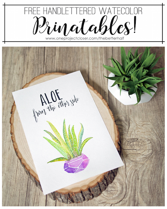 Free Watercolor Printable and One Project Closer