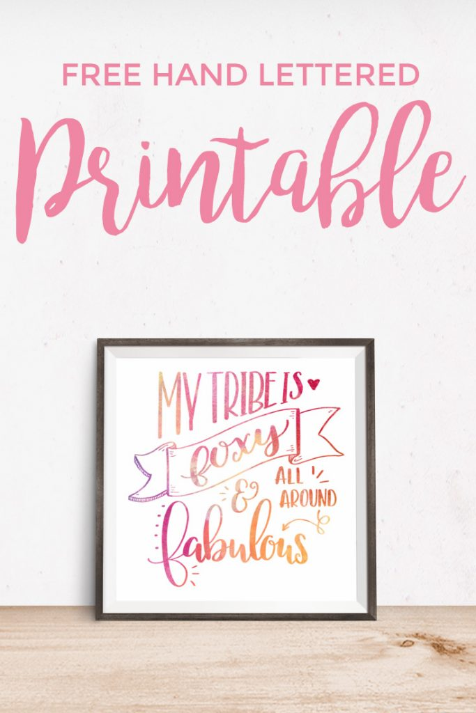 How To Hand Letter PLUS a Free Foxy Printable - Come download this ADORABLE (and FREE) hand lettered printable, and learn how to easily create your very own!