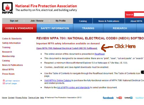 How to get a free copy of the 2011 national electric code nfpa 70 note you must have java installed to run the plugin that loads the nec if you do not have java installed your browser should prompt you to install it fandeluxe Gallery