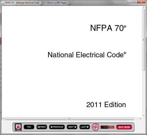 How to get a free copy of the 2011 national electric code nfpa 70 limitations of the online version of the nec fandeluxe Gallery
