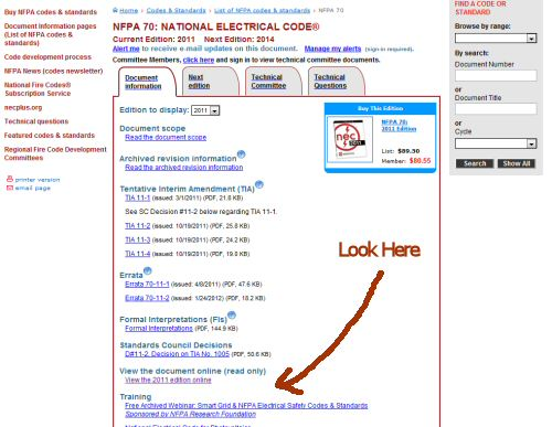 How to get a free copy of the 2011 national electric code nfpa 70 if fandeluxe Gallery