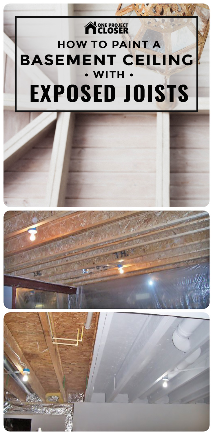 How To Paint A Basement Ceiling With Exposed Joists For An Electrical Wiring Ideas Industrial Look One Project Closer