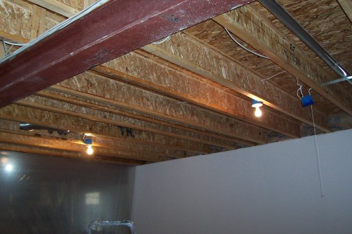 painted i-beam joist