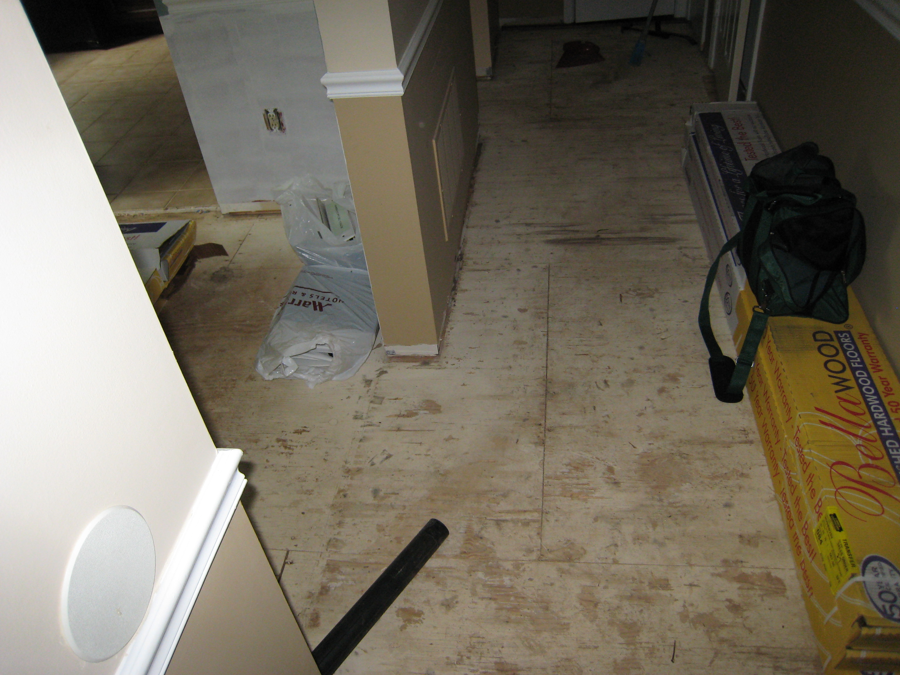 Before And After Removing Carpet And Hardwood One