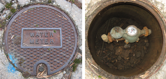 House Water Meter : How to turn off your water using the main cutoff valve on