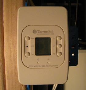 radiant heated flooring thermostat