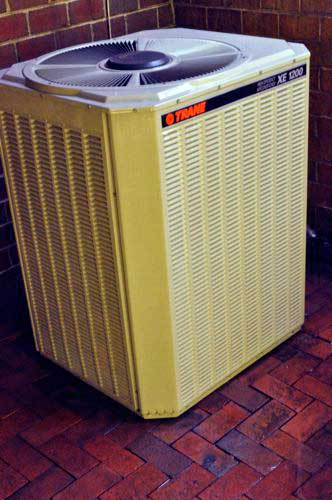how to clean an outdoor air conditioning coil trane unit example one project closer. Black Bedroom Furniture Sets. Home Design Ideas