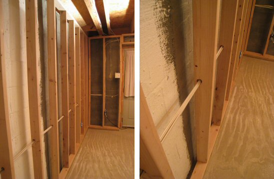 basement-walls-without-insulation & Basement Wall Insulation Options - One Project Closer