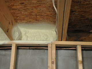Insulate Band Board Rim Joist To Block Air Infiltration