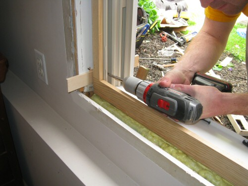fastening-a-window-to-rough-in-framing