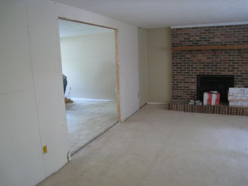 Family Room With Load Bearing Wall Opened