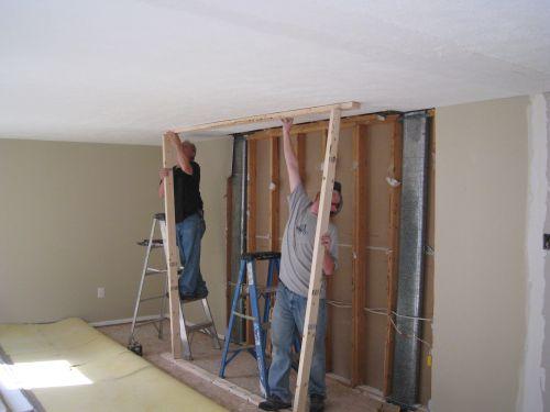 Framing A Temporary Wall