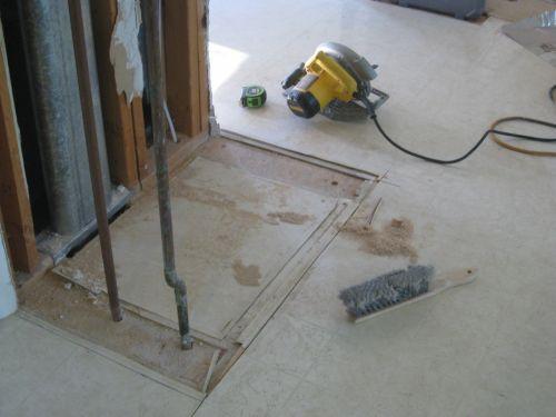 Plumbing Floor Pre-Removal