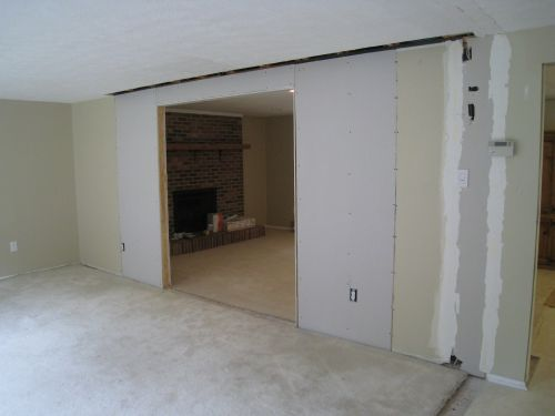 drywall up  in Dining Room