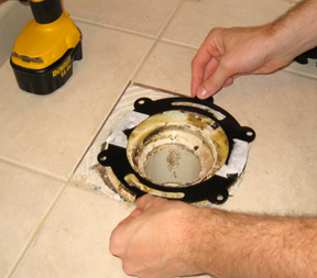 Repair a Broken Toilet Flange - One Project Closer