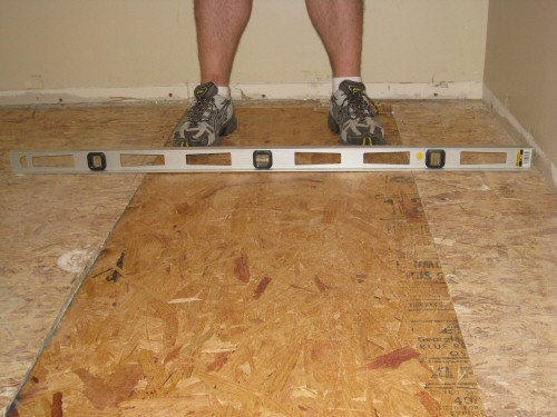Level an Uneven, Crowning Subfloor by Planing / Sanding Joists - One ...