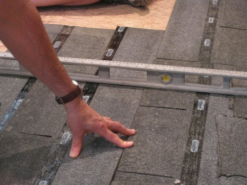 How To Level A Plywood Or Osb Subfloor Using Asphalt Shingles