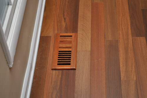 American Cherry Vent Cover On Brazilian Walnut Floor