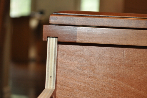 routed edge fit for solid wood cabinets