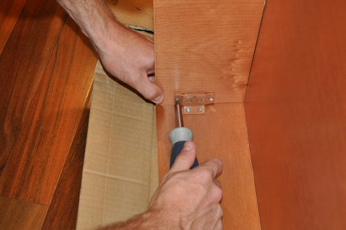 Screw Together Fasteners For Solid Wood Cabinets
