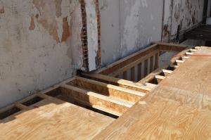 3/4 inch plywood subfloor
